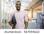 portrait of cheerful male... | Shutterstock . vector #567054622