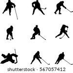vector silhouettes hockey... | Shutterstock .eps vector #567057412