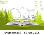 environmentally friendly world. ... | Shutterstock .eps vector #567062116
