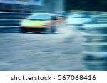 Small photo of Race car racing on speed track with motion blur,Motorsports concept.