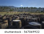 abandoned old wooden rum... | Shutterstock . vector #567069922