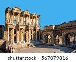 celsus library in ephesus ... | Shutterstock . vector #567079816