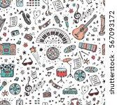 vector music background.... | Shutterstock .eps vector #567093172