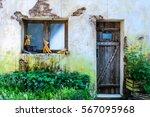 Facade   Front Door Of An Old...