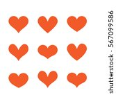 heart set | Shutterstock .eps vector #567099586