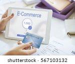 online banking internet finance ... | Shutterstock . vector #567103132