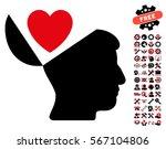 open mind love heart pictograph ... | Shutterstock .eps vector #567104806