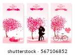 three valentine's day banners... | Shutterstock .eps vector #567106852