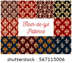 floral french fleur de lis... | Shutterstock .eps vector #567115006
