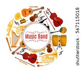 musical instrument banner.... | Shutterstock .eps vector #567115018