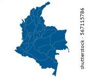colombia map vector illustration   Shutterstock .eps vector #567115786