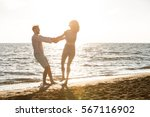 happiness and romantic scene of ... | Shutterstock . vector #567116902