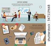 office worker of analyics... | Shutterstock .eps vector #567119668