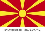 macedonia flag  official colors ... | Shutterstock .eps vector #567129742