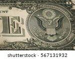 macro fragment banknote one us...   Shutterstock . vector #567131932