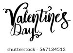 valentines day text hand... | Shutterstock .eps vector #567134512