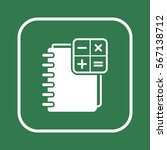 notebook  icon  isolated  flat... | Shutterstock .eps vector #567138712
