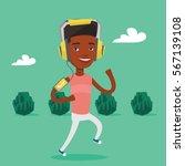 happy african american man... | Shutterstock .eps vector #567139108