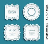 set of vector labels  cutout... | Shutterstock .eps vector #567145006