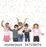 children smiling happiness... | Shutterstock . vector #567158476