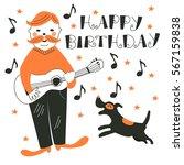 cute vector card. cartoon... | Shutterstock .eps vector #567159838