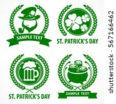 st. patrick. s day symbols.... | Shutterstock .eps vector #567166462