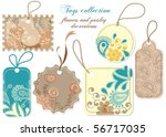 tags collection  paisley and... | Shutterstock .eps vector #56717035