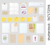 sticker notes vector set  post... | Shutterstock .eps vector #567172546