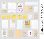 sticker notes vector... | Shutterstock .eps vector #567172546