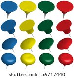 set of office pins   Shutterstock .eps vector #56717440