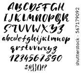 hand drawn font made by dry... | Shutterstock .eps vector #567179092