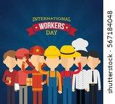 international worker's day... | Shutterstock .eps vector #567184048