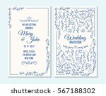 wedding invitation  thank you... | Shutterstock .eps vector #567188302