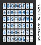 airport mechanical flip board... | Shutterstock .eps vector #567189256