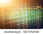 stock market data on led... | Shutterstock . vector #567192058