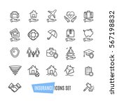 insurance icon thin line set... | Shutterstock .eps vector #567198832