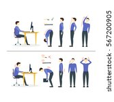 office syndrome correct or...   Shutterstock .eps vector #567200905