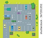 parking scheme with car and... | Shutterstock .eps vector #567201352