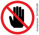 do not touch sign. vector. | Shutterstock .eps vector #567205108