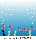 patriotic banner  usa flags in... | Shutterstock .eps vector #567207736