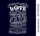 love is care and attention.... | Shutterstock .eps vector #567209326