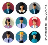 set of different professions in ... | Shutterstock .eps vector #567209746