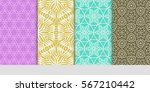 set of modern floral pattern of ... | Shutterstock .eps vector #567210442