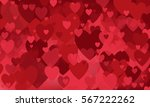 vector background with hearts ... | Shutterstock .eps vector #567222262