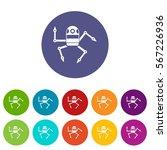 spider robot set icons in...   Shutterstock .eps vector #567226936