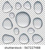 transparent drop of water on... | Shutterstock .eps vector #567227488