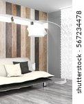 modern bright interior . 3d...   Shutterstock . vector #567234478