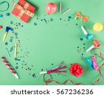colorful party frame with red... | Shutterstock . vector #567236236