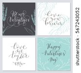 set of valentine's day cards.... | Shutterstock .eps vector #567243052