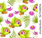 seamless tropical pattern with... | Shutterstock .eps vector #567248056
